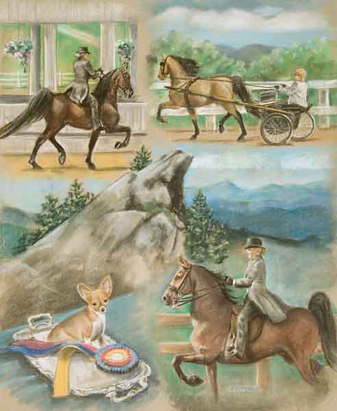 Blowing Rock Horse Show Saddlebred Poster