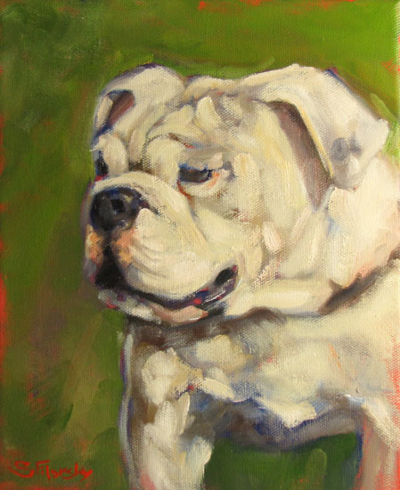 Oil Painting of Bulldog